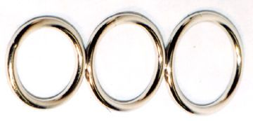 A selection of seamless chrome plated cock rings