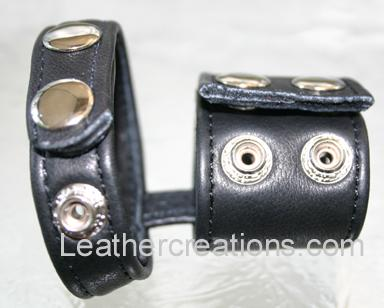 Garment leather ball stretcher and cock ring