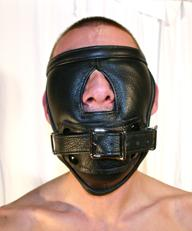 Padded full face blindfold with gag