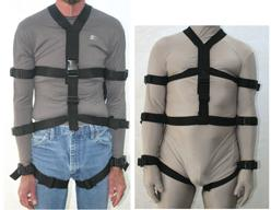 Full Body Webbing Harness Restraint height variation capability