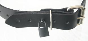 Custom locking bondage strap